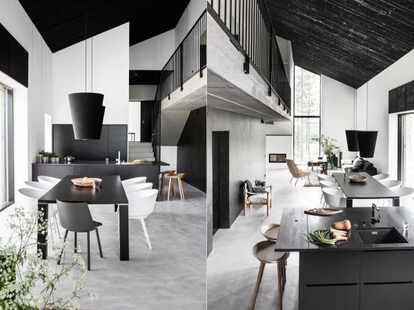 black-and-white-dining-room-600x450