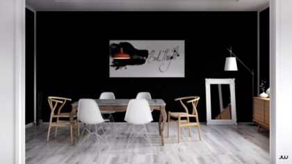 black-wall-dining-room-600x337