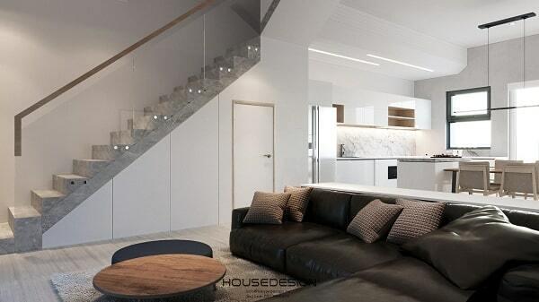bố trí phòng khách đẹp cho căn hộ 65m2
