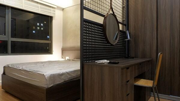 phòng ngủ đơn chung cư 65m2 đẹp
