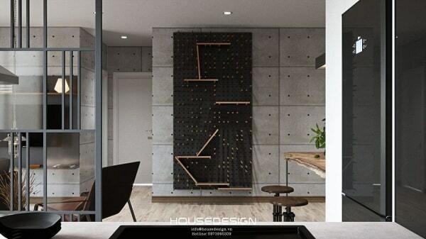 thiết kế nội thất căn hộ 65m2 tiện nghi