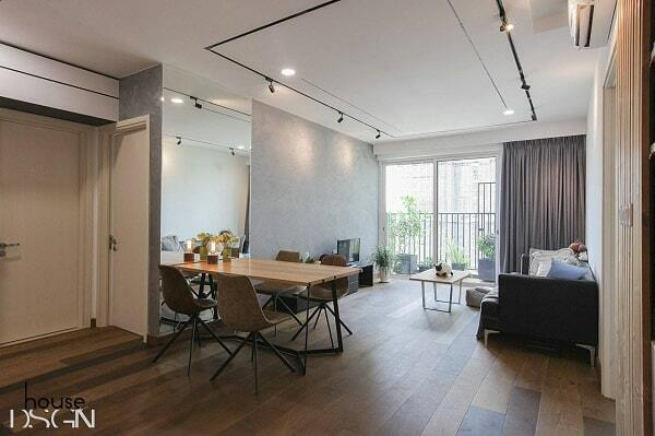 mẫu thiết kế nội thất căn hộ chung cư 65m2
