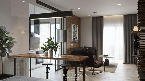 mẫu thiết kế nội thất chung cư 65m2 đẹp