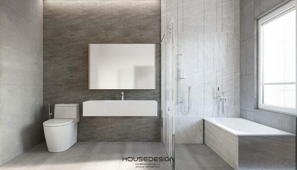 thiết kế nội thất phòng tắm 65m2