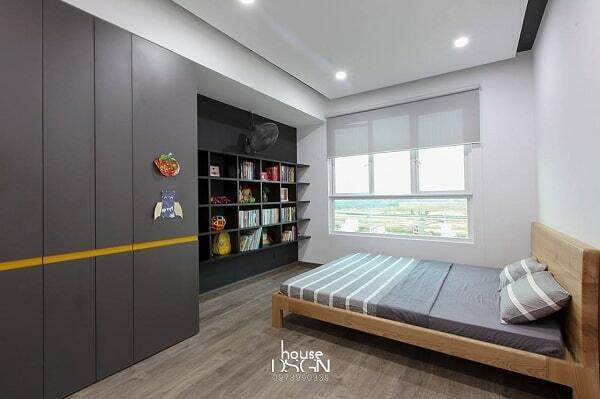 trang trí phòng ngủ cho nhà 65m2