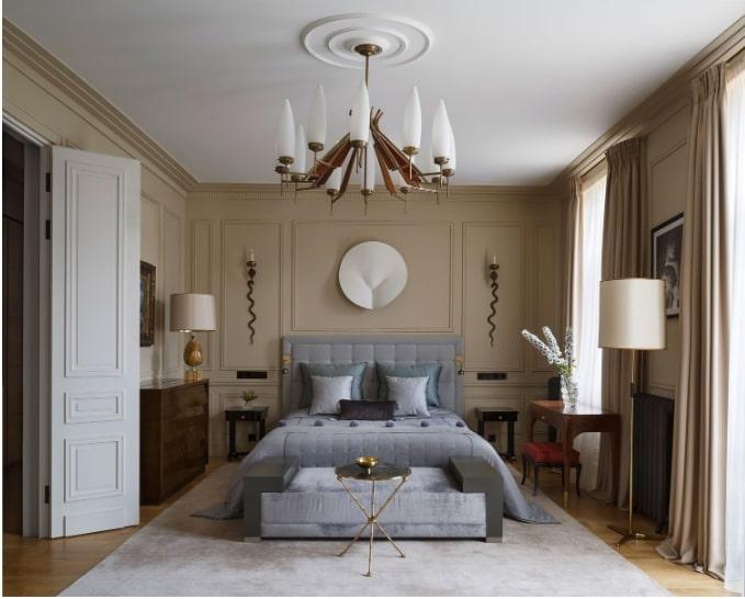 Thiết kế art deco sang trọng của phòng ngủ