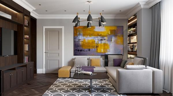 mẫu art deco trong nội thất