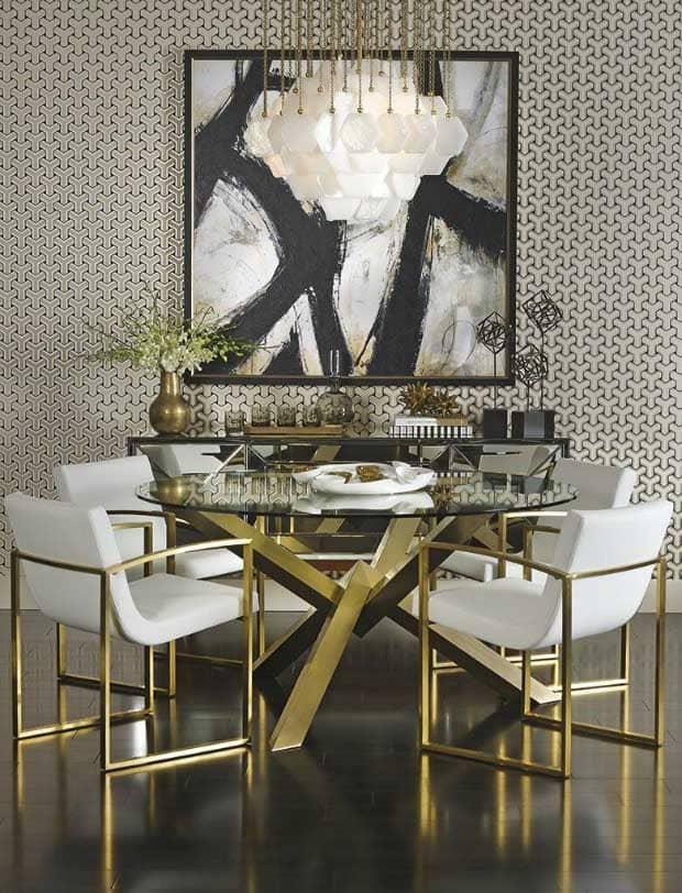 chất liệu sử dụng trong phong cách art deco - Housedesign