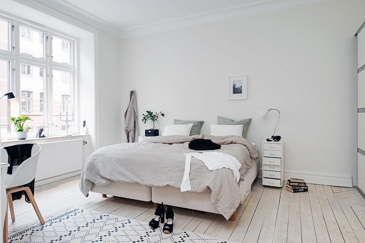 thiết kế phòng ngủ phong cách scandinavian