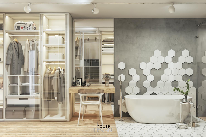 thiết kế nhà vệ sinh phong cách đương đại