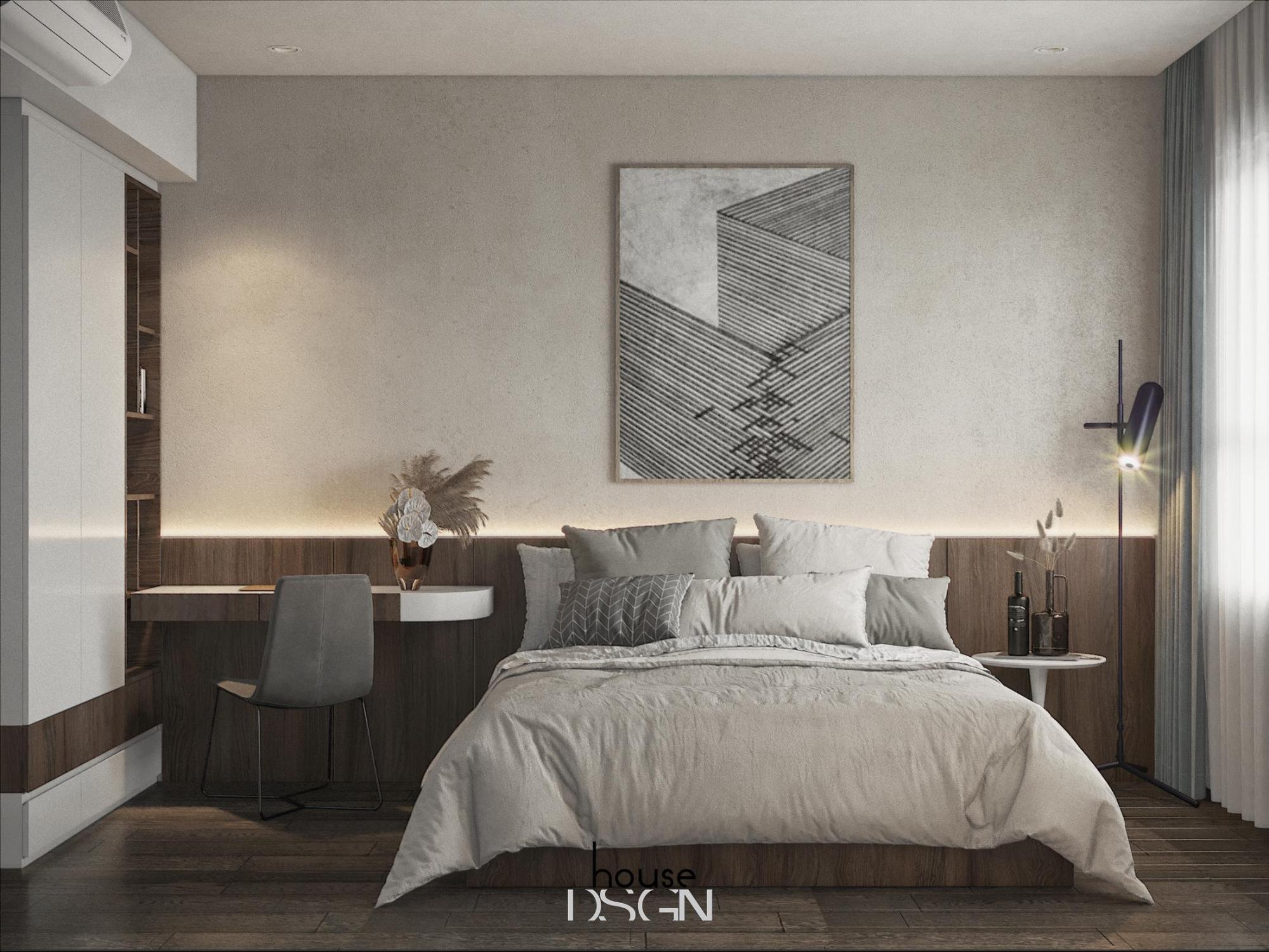 bố trí phong cách đương đại cho phòng ngủ