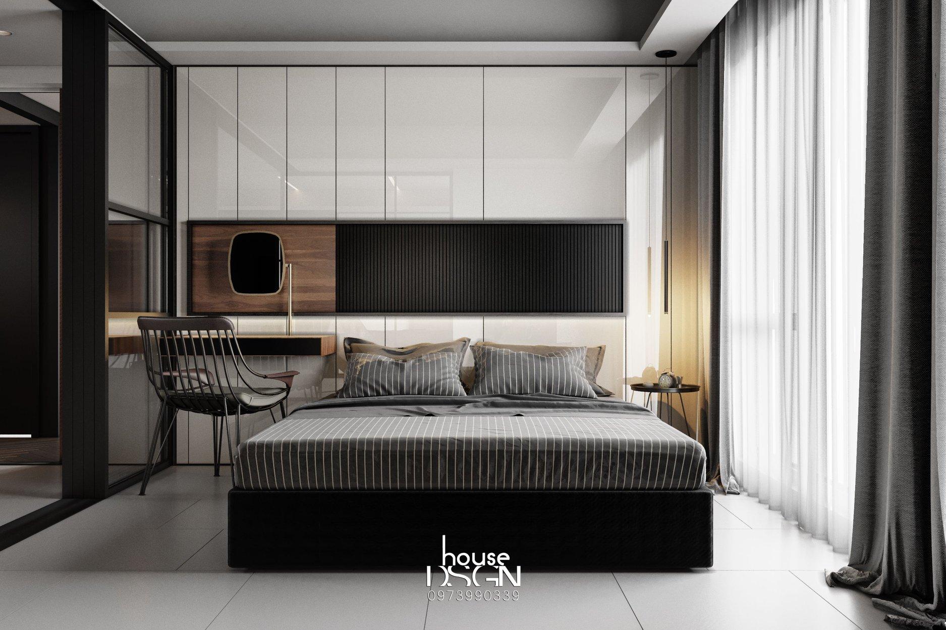 Phòng ngủ có phong cách nội thất tối giản đẹp