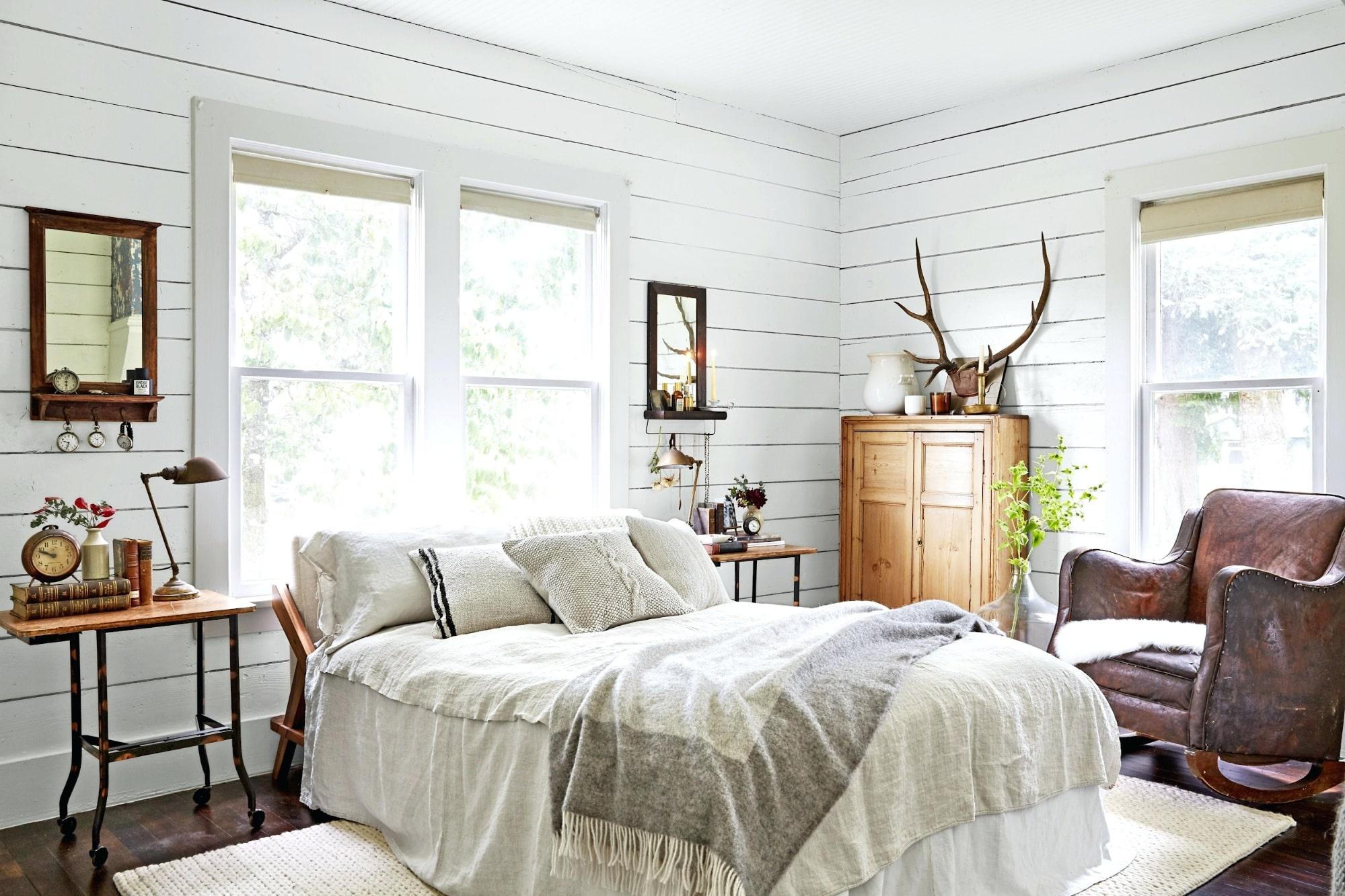 phòng ngủ thiết kế theo phong cách country đẹp
