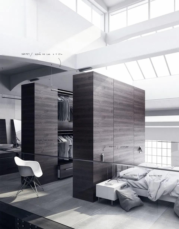 thiết kế không gian phòng thay đồ đơn giản