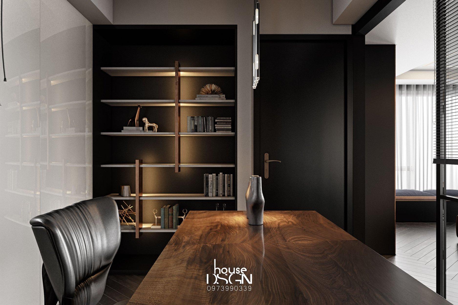 thiết kế nội thất tối giản cho phòng làm việc
