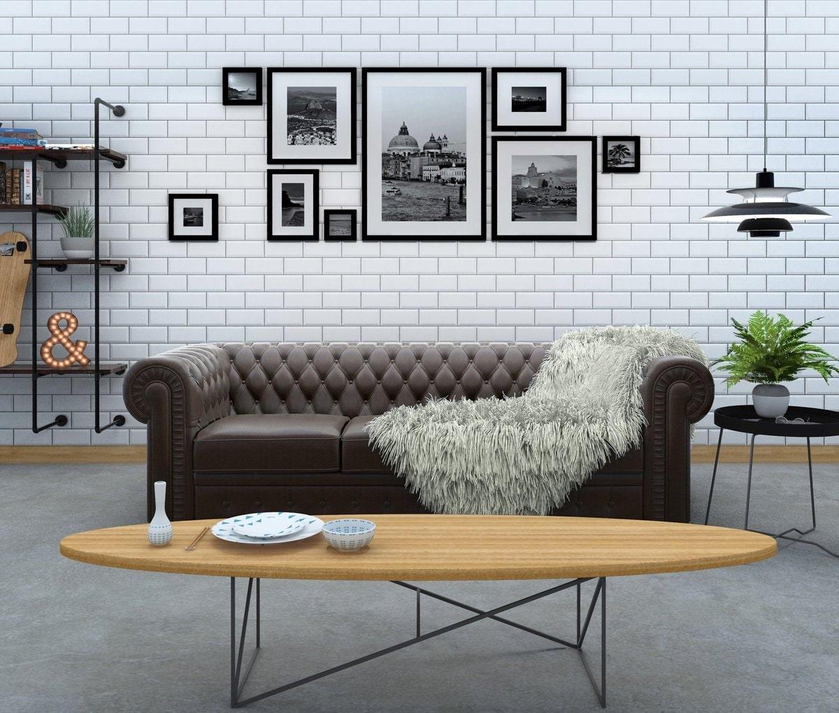 nội thất theo phong cách urban