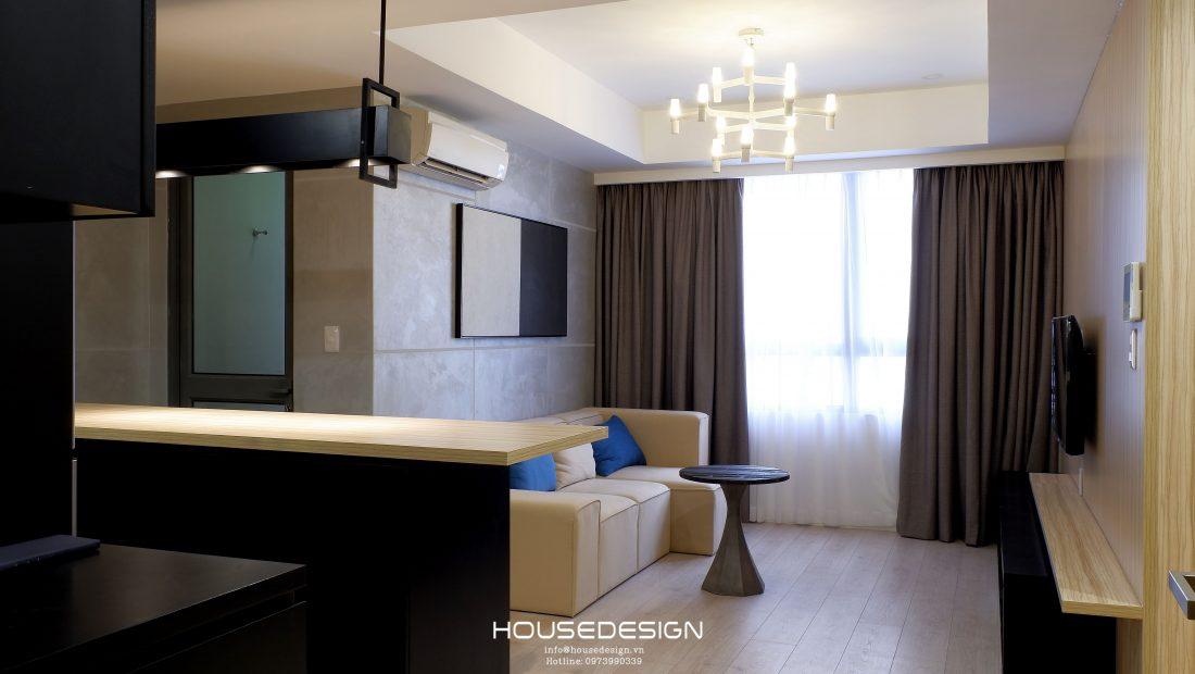 trang trí phòng khách cho căn hộ 1 phòng ngủ