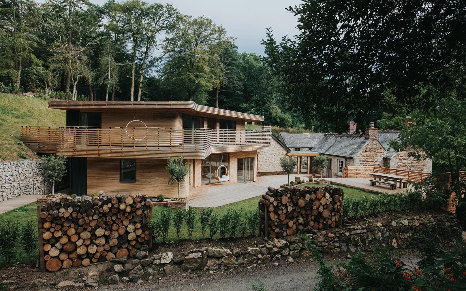 thiết kế nhà bằng gỗ đơn giản