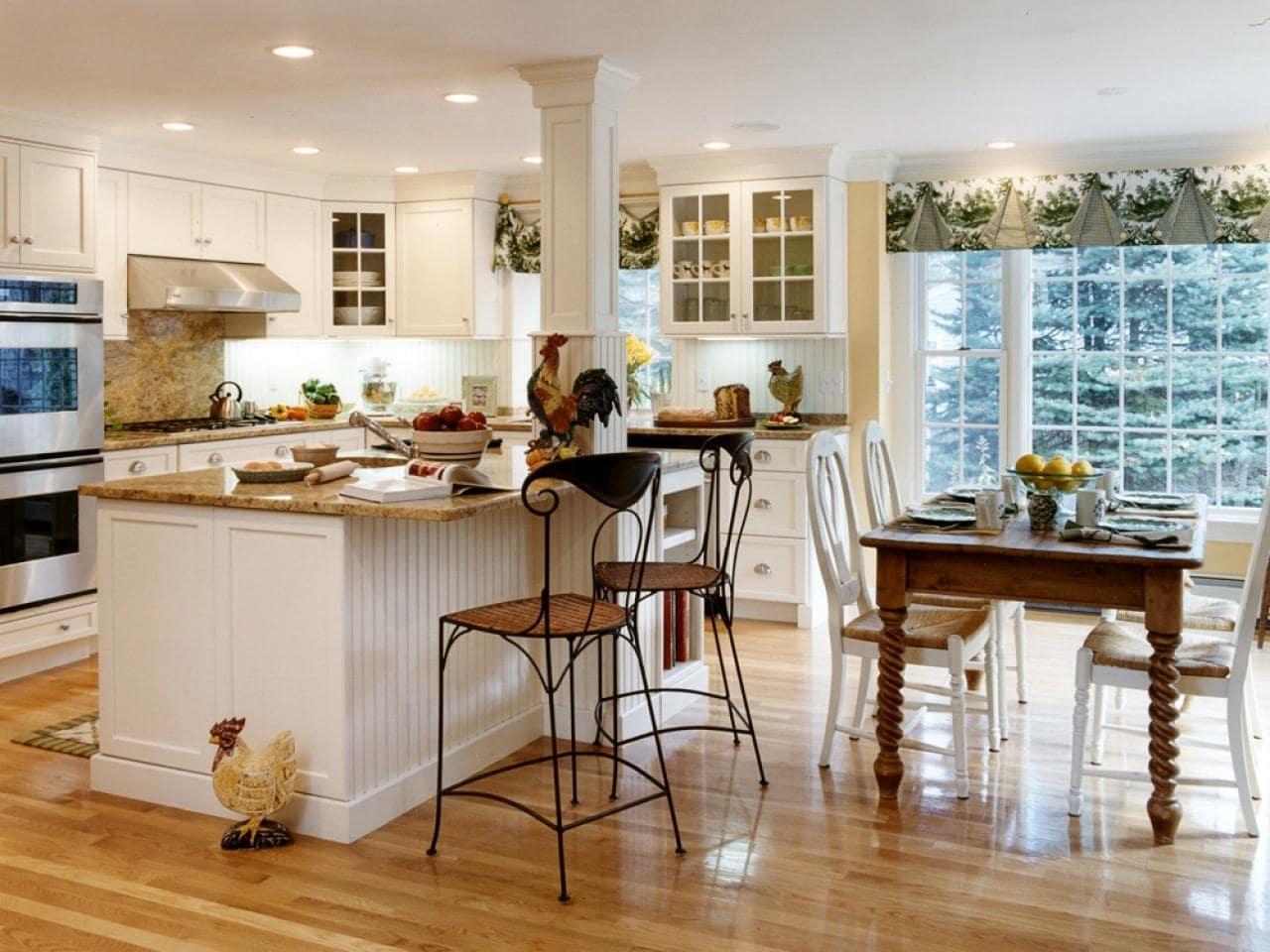thiết kế nội thất phong cách đồng quê cho nhà bếp