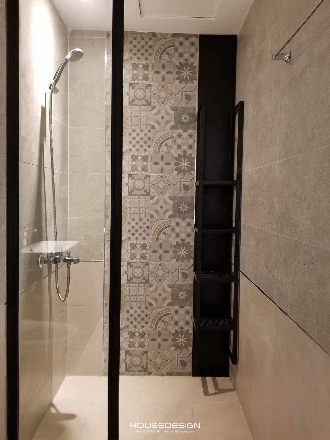 Phòng tắm cho căn hộ 1 phòng ngủ