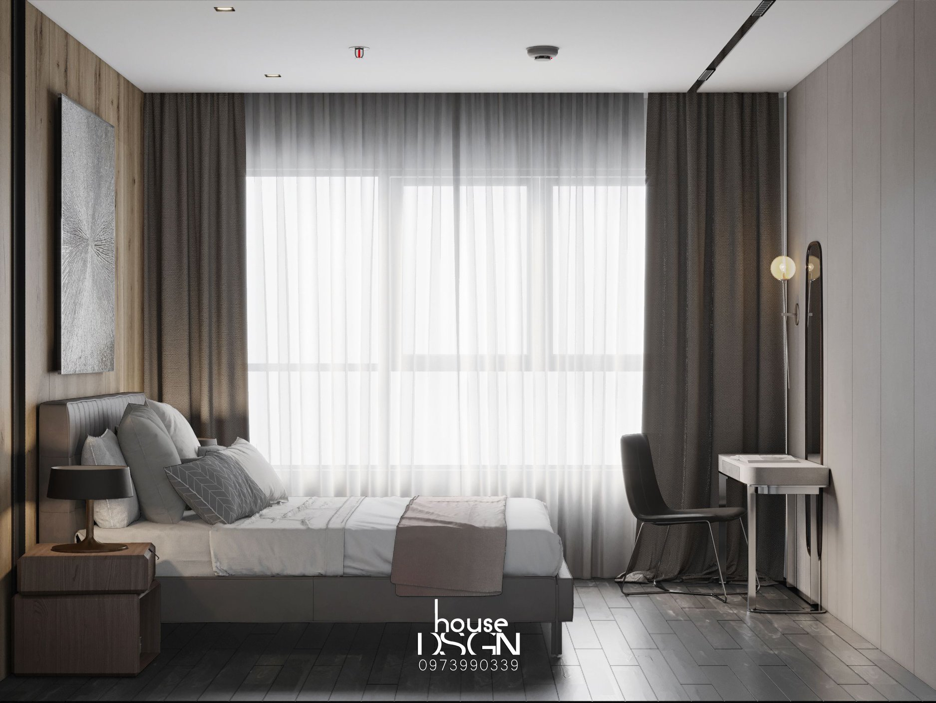 thiết kế phòng ngủ phong cách scandinavian đẹp