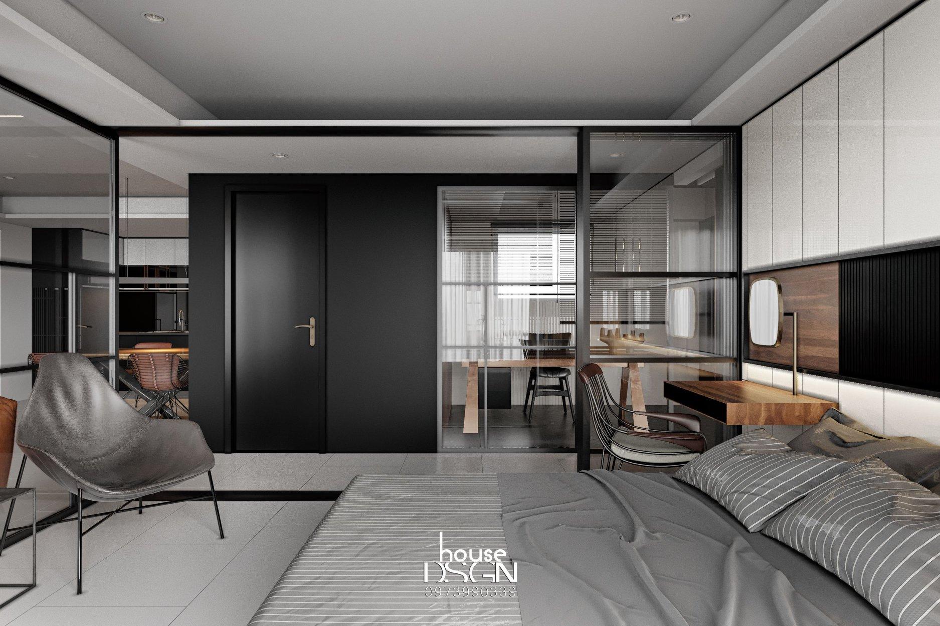 Phòng ngủ có phong cách nội thất tối giản