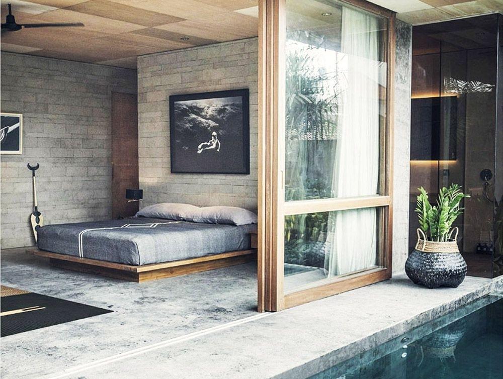 phong cách thiết kế nội thất thô mộc đẹp