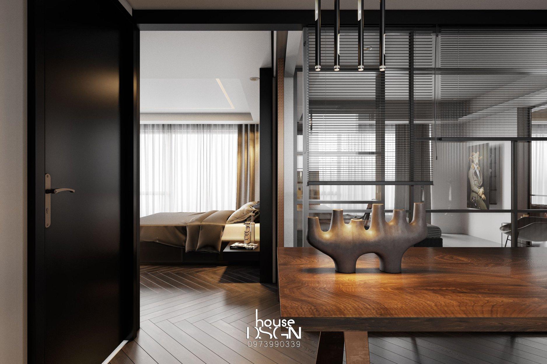 nội thất tối giản cho phòng làm việc