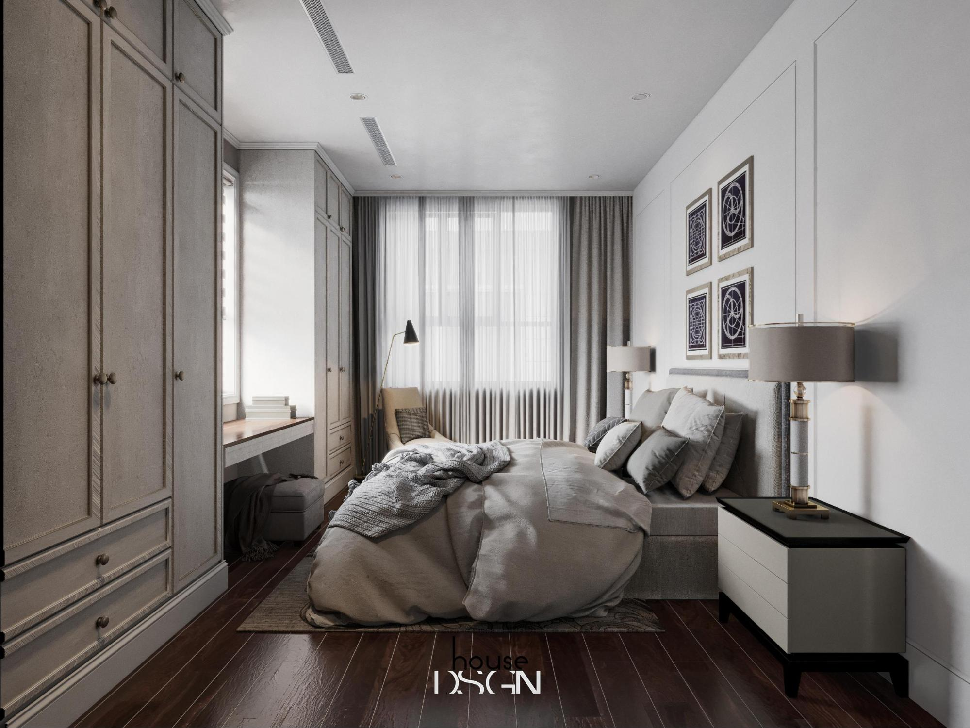 phòng ngủ trang trí nội thất châu âu