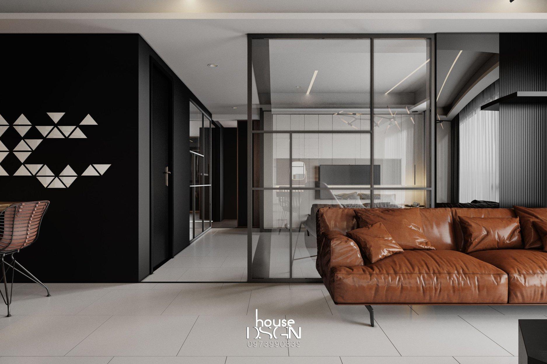 phòng khách thiết kế phong cách nội thất tối giản