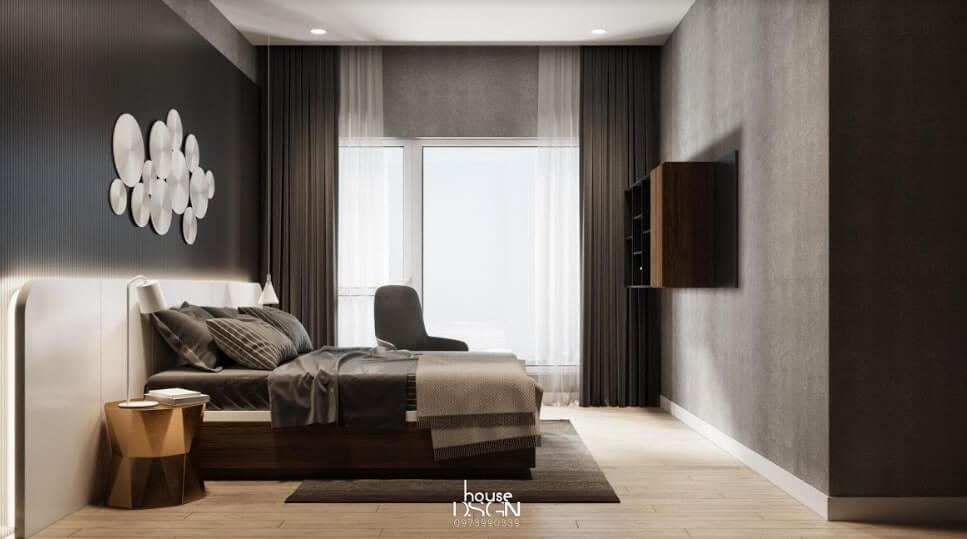 không gian sống cho căn hộ 65m2 2 phòng ngủ