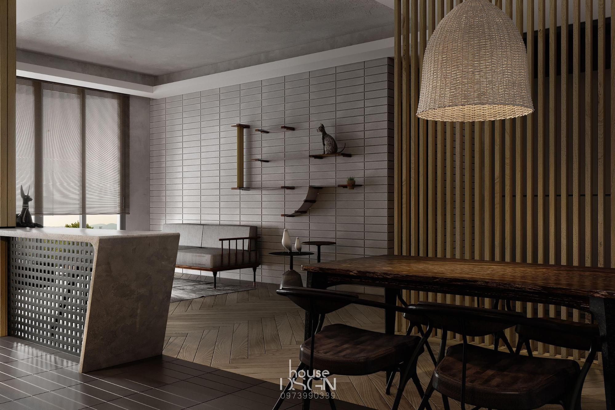 phòng ăn có phong cách nội thất tối giản