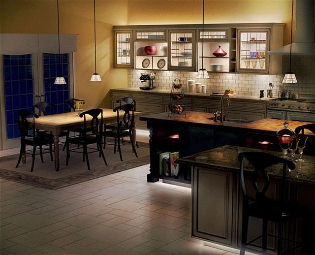 không gian đảo bếp