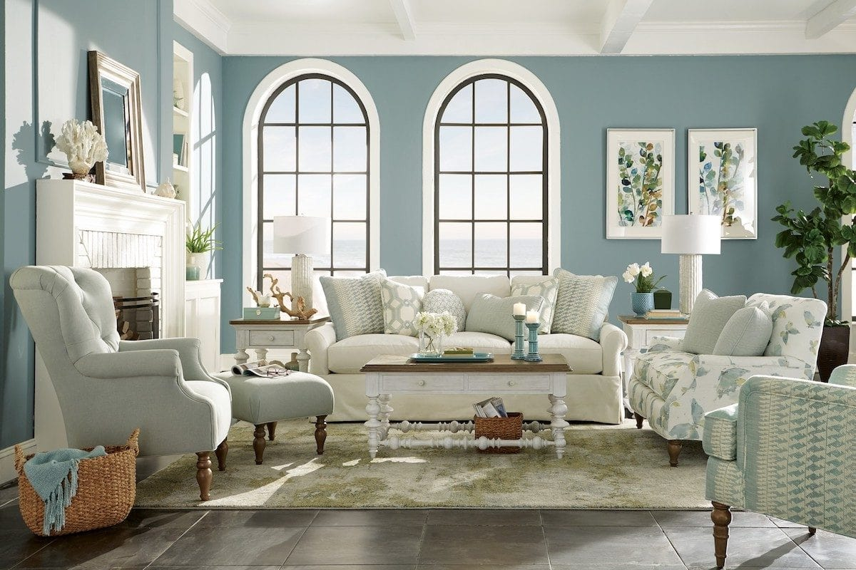 mẫu thiết kế nội thất phong cách coastal