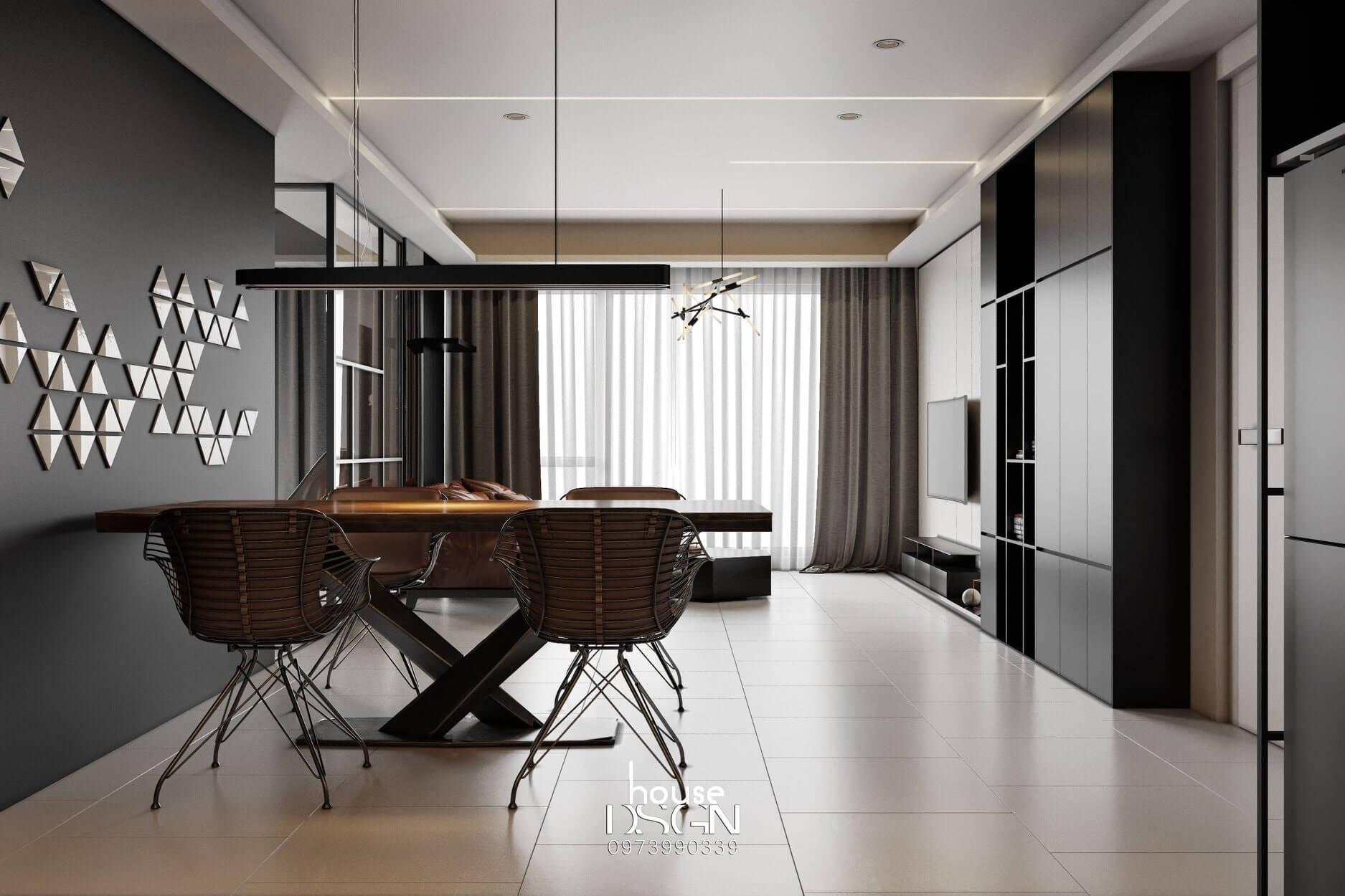 nội thất căn hộ chung cư 100m2 hiện đại
