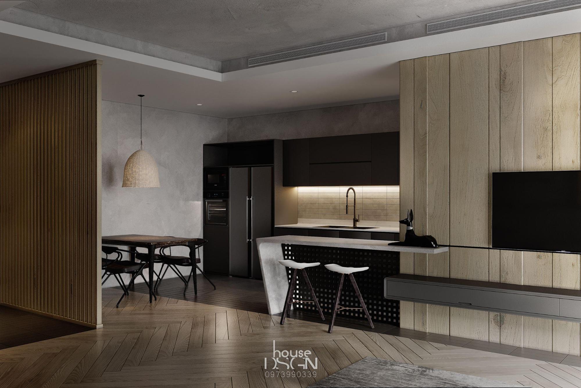 phòng ăn với phong cách nội thất tối giản