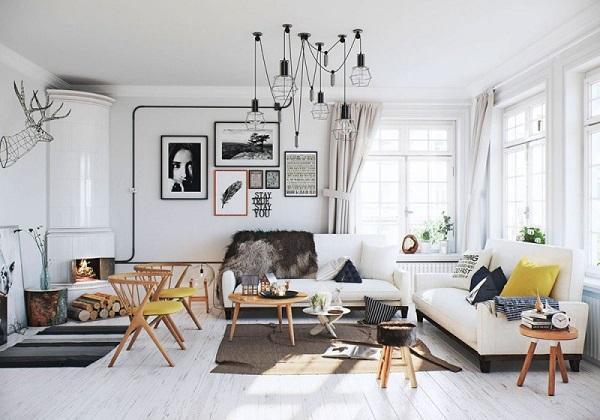 thiết kế Scandinavian cho phòng khách đẹp