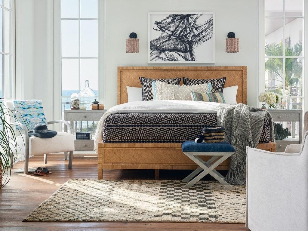 phòng ngủ trang trí nội thất theo phong cách coastal