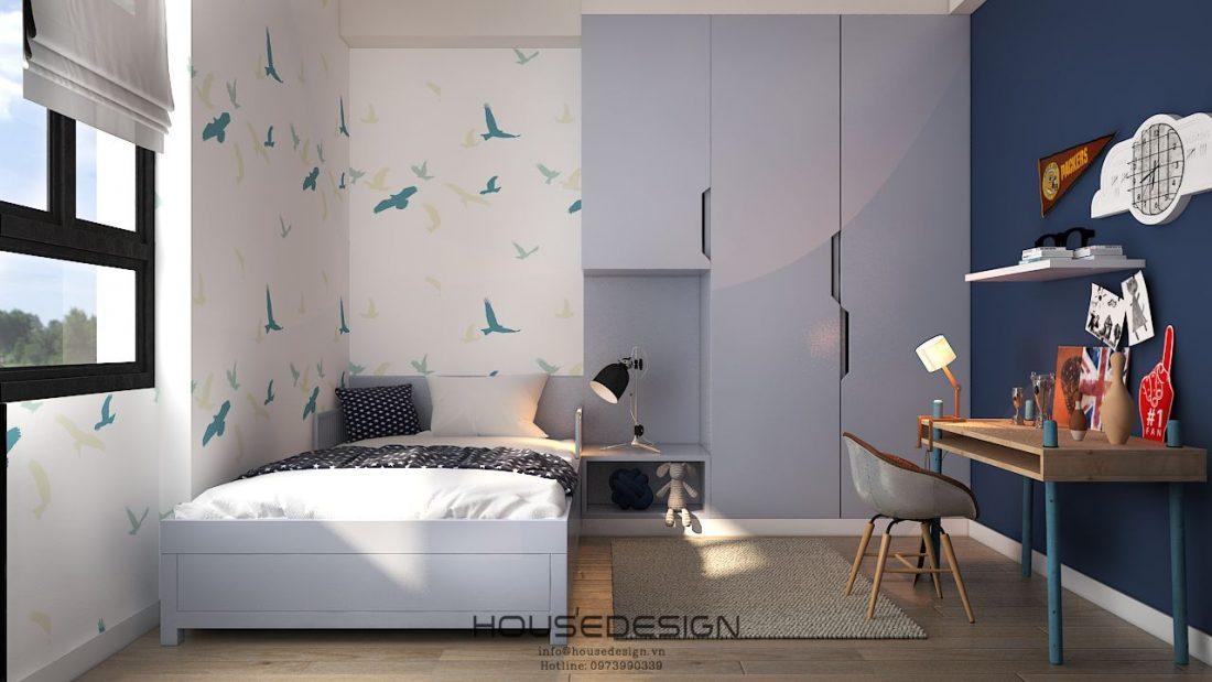phòng ngủ thiết kế nội thất phong cách bắc âu