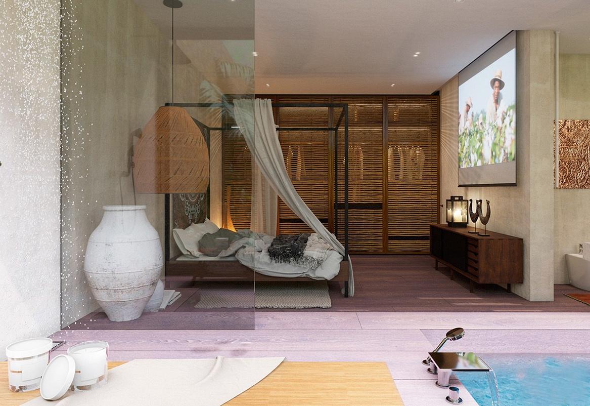 không gian nội thất phong cách Tropical
