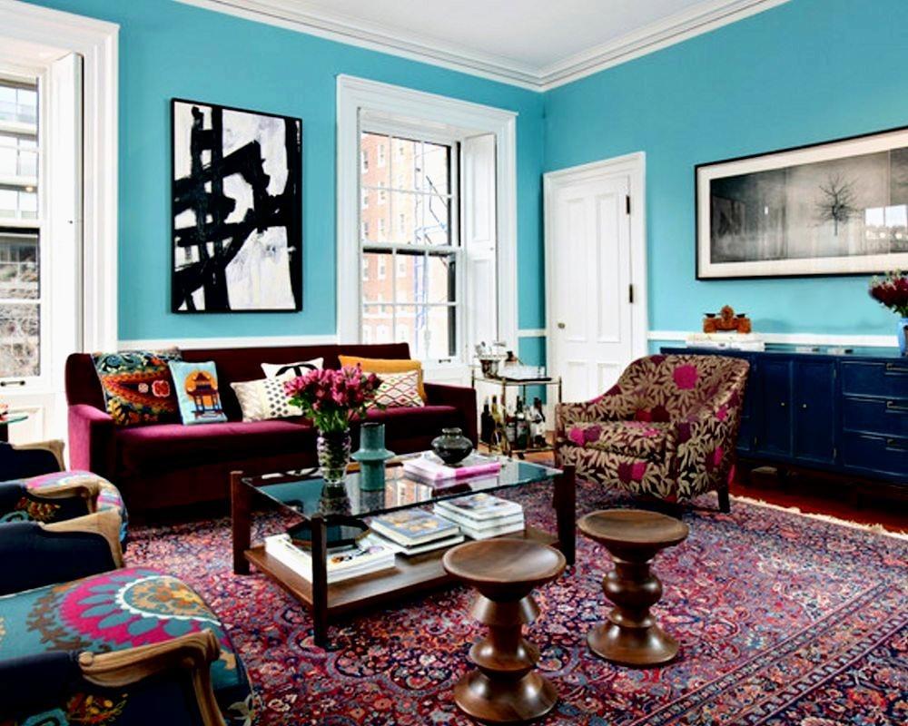 thiết kế nội thất chiết trung cho phòng khách