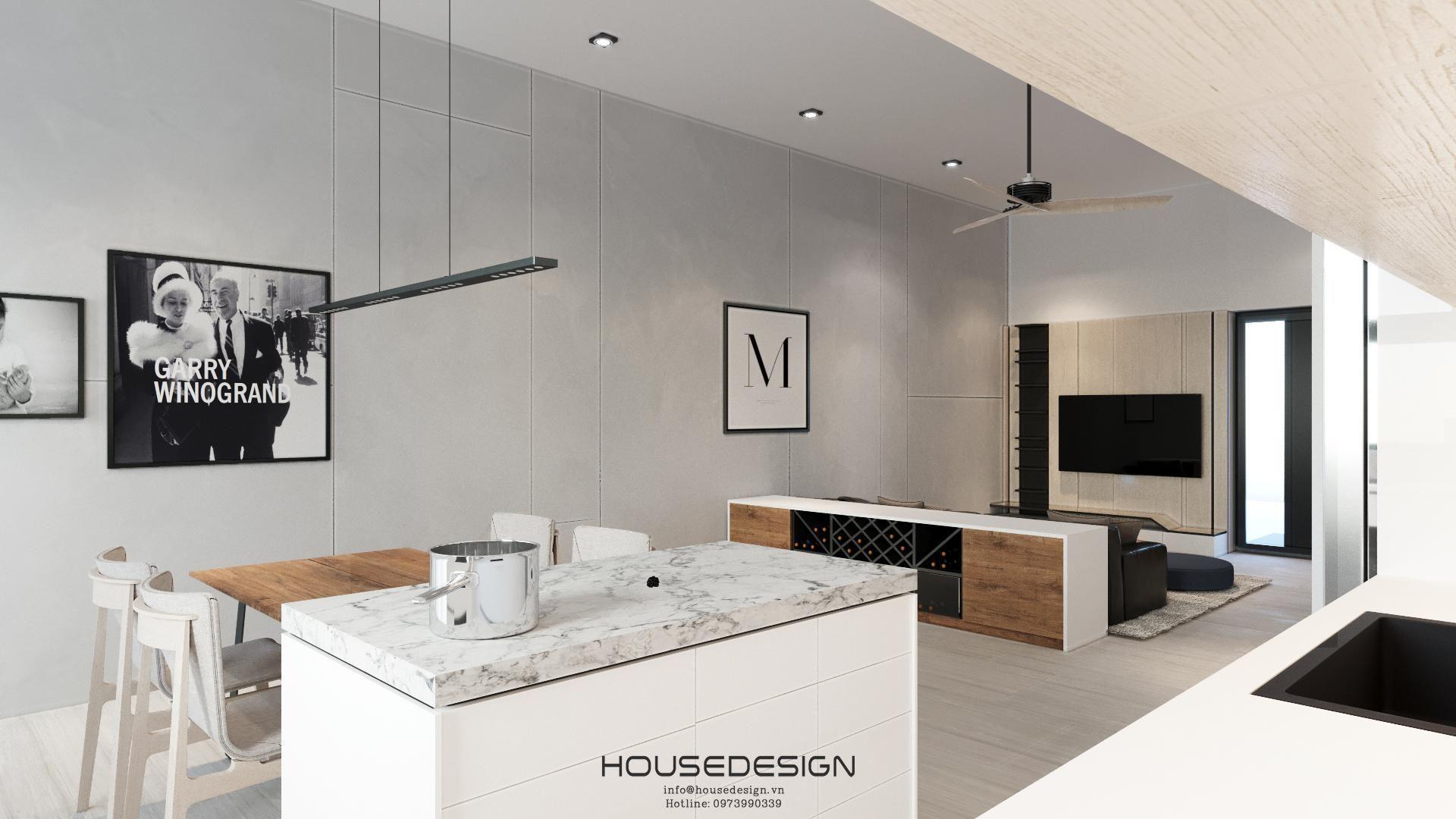 thiết kế phòng bếp nội thất phong cách mininalism