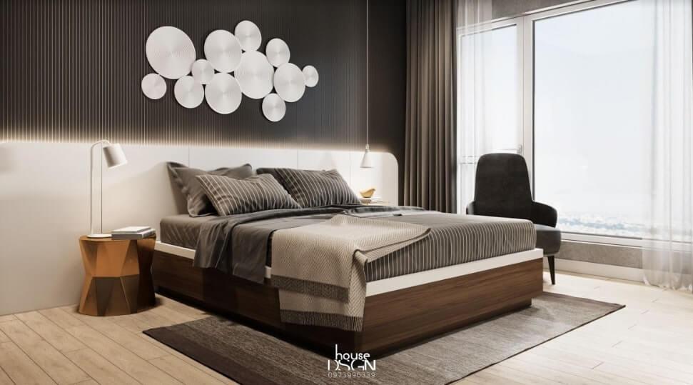 thiết kế nội thất 2 phòng ngủ cho căn hộ 65m2