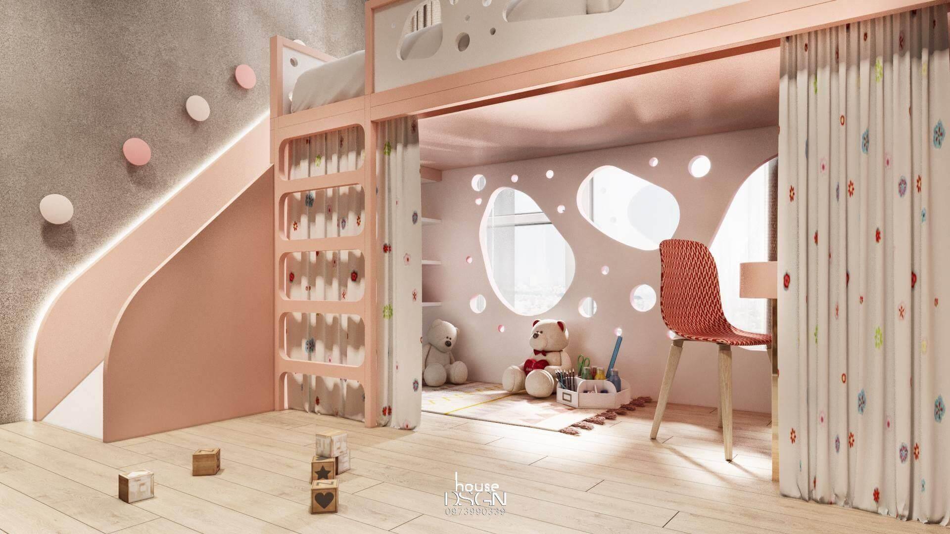 nội thất cho phòng ngủ trẻ em 100m2