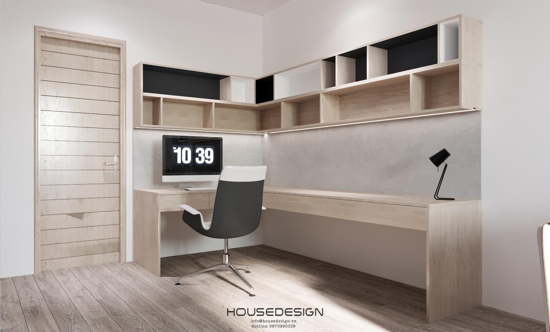 Thiết kế đơn giản của phòng làm việc