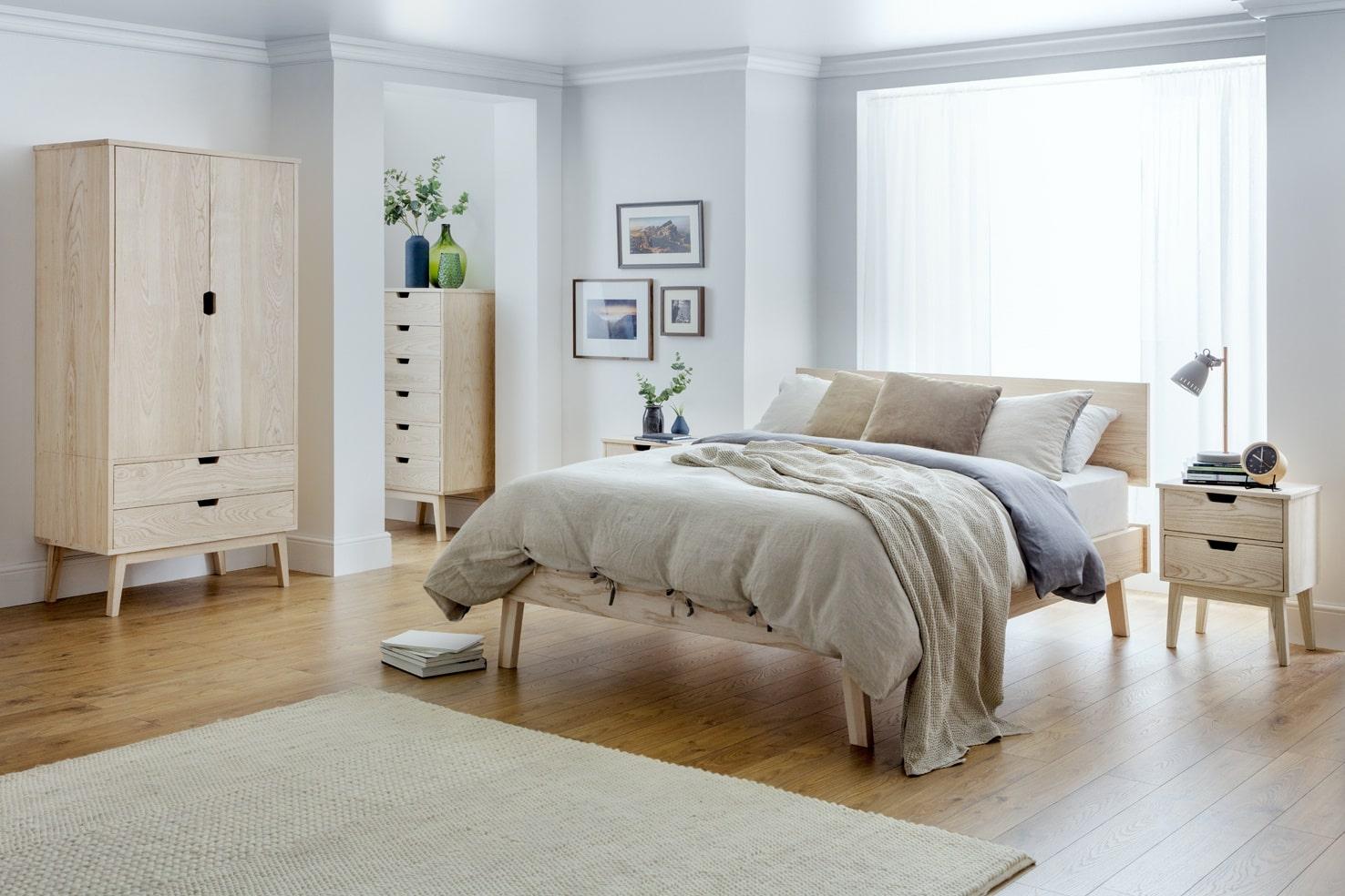 thiết kế phong ngủ sacandinavian