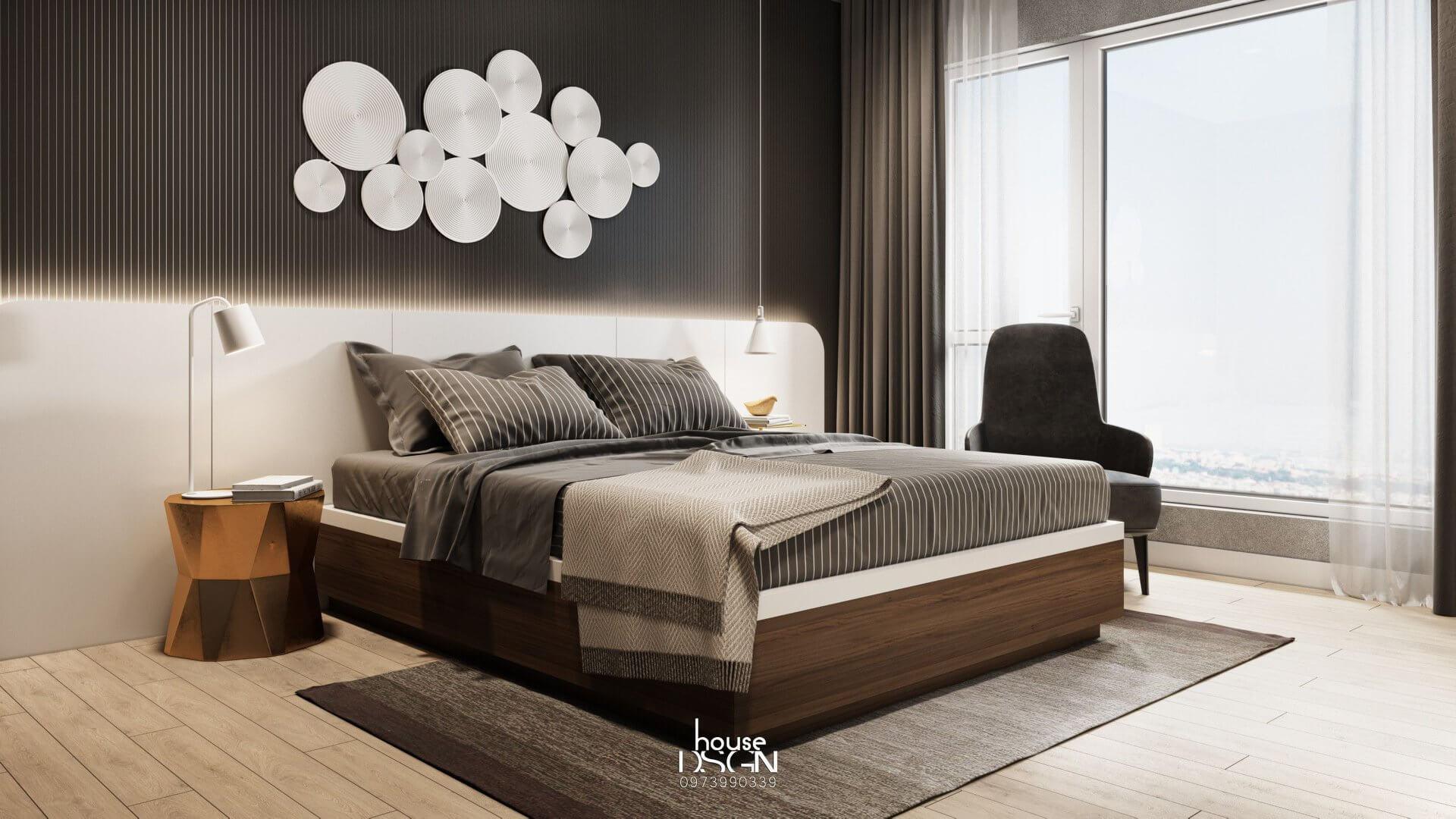 trang trí nội thất phòng ngủ cho căn hộ 100m2
