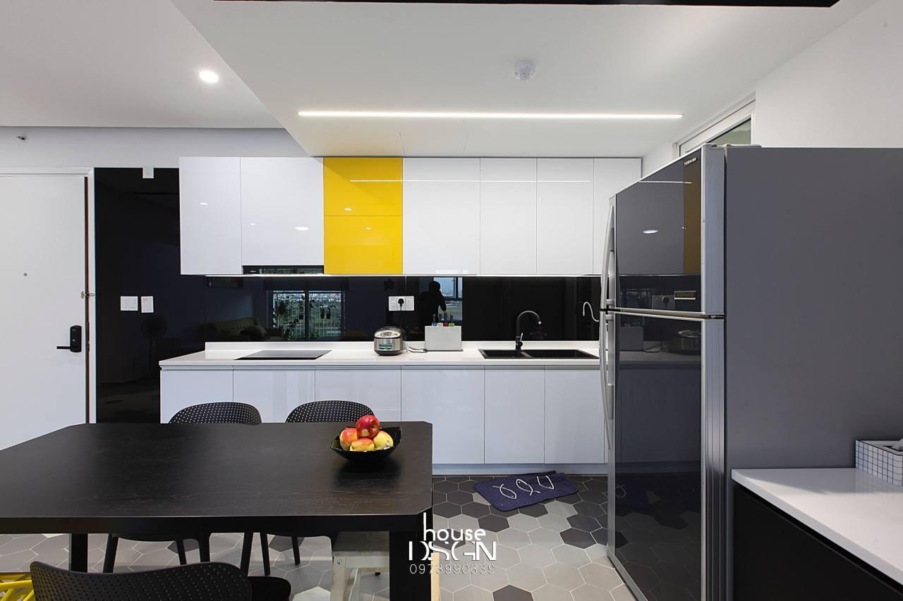phòng bếp thiết kế cho căn hộ 3 phòng ngủ