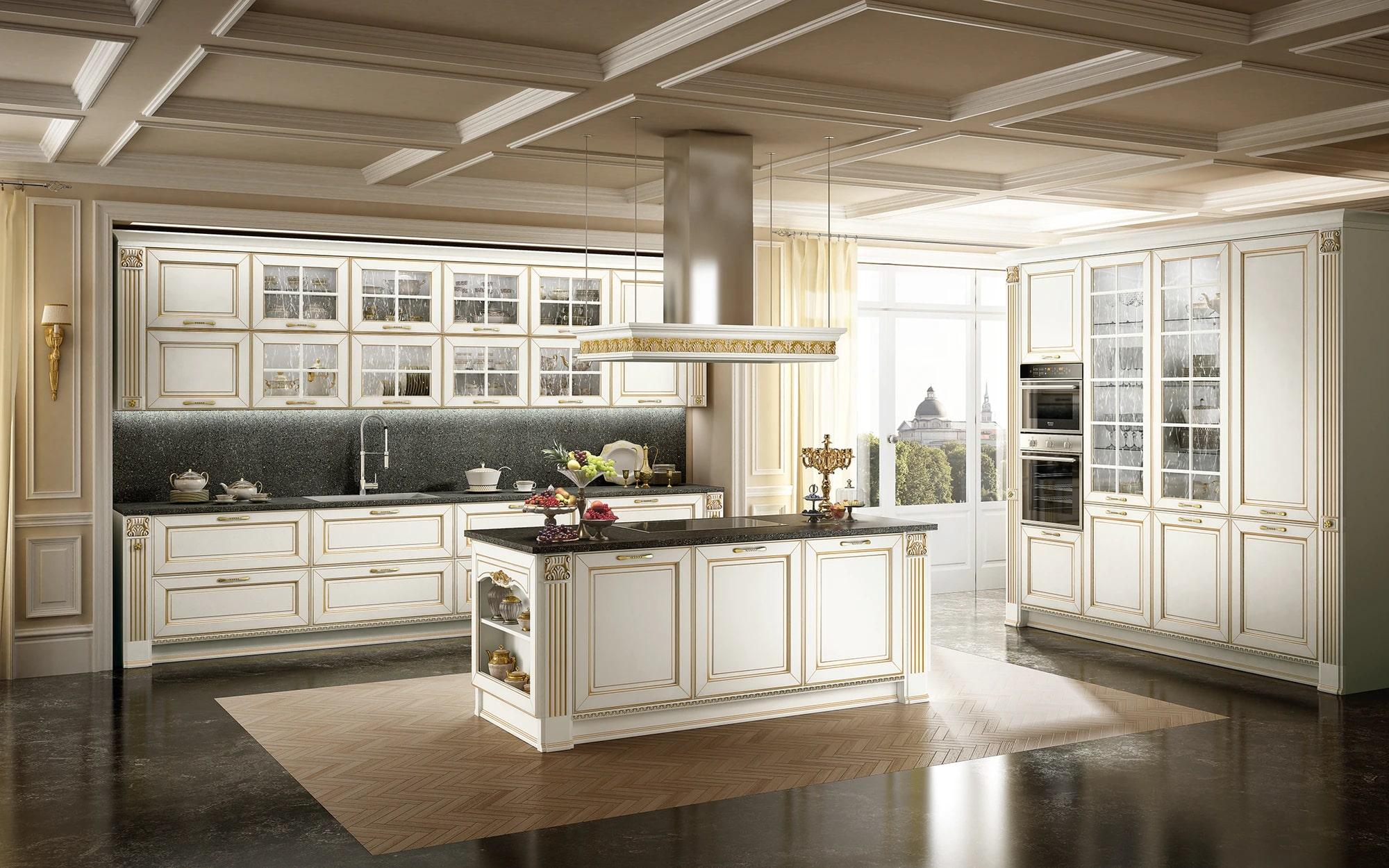 không gian bếp classic