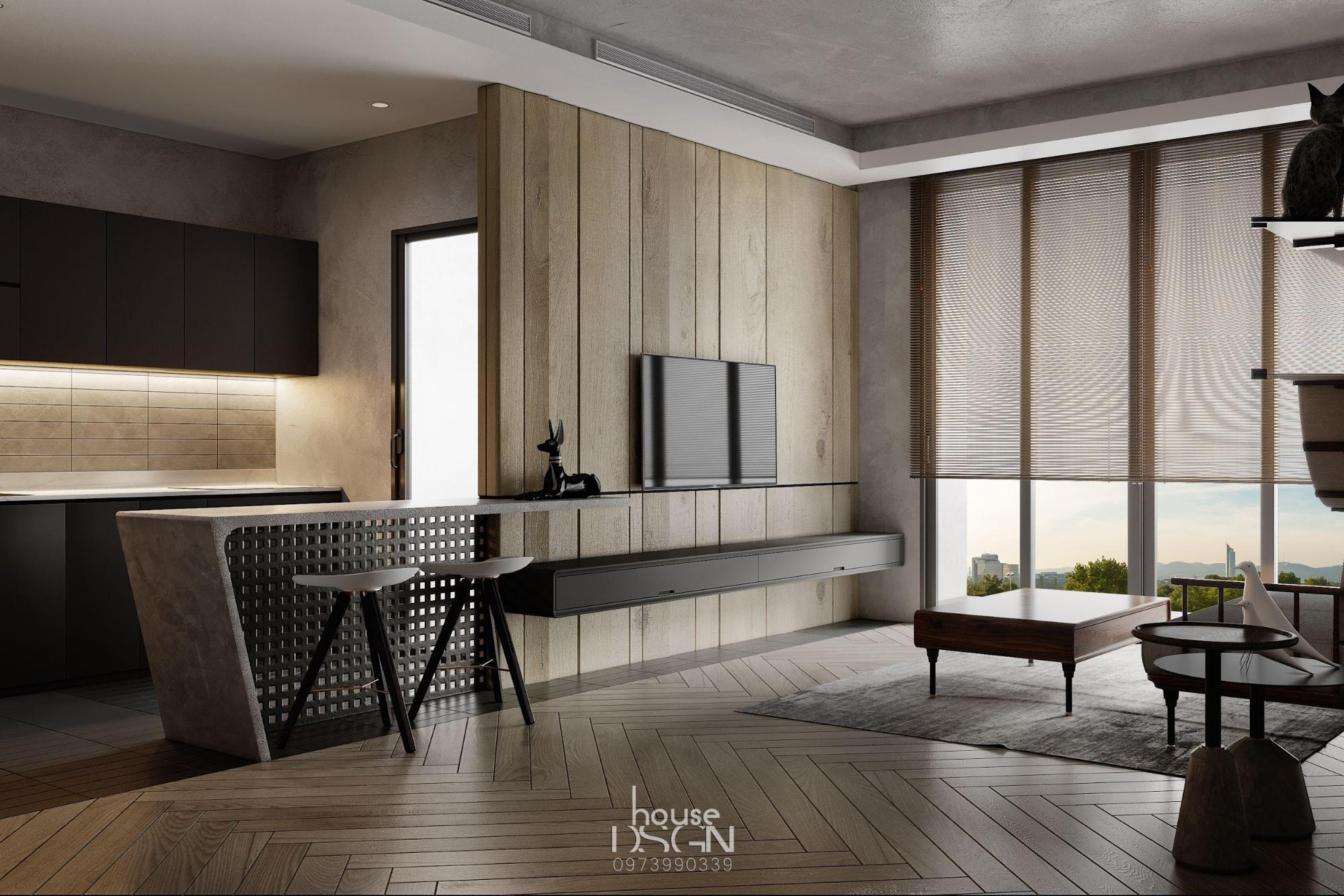 không gian với phong cách nội thất tối giản